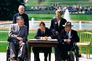 President Bush signs the ADA