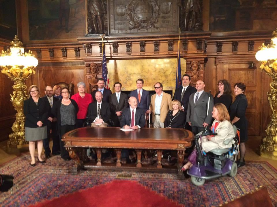 "Governor Tom Wolf signs ""Employment First"""