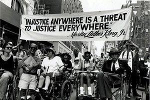 Judy Heumann's protest
