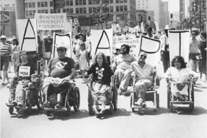 ADAPT protesters