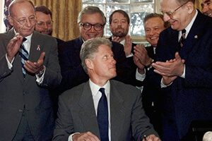 President Clinton signs the Workforce Investment Act