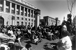 Protesters at a sit-in San Francisco
