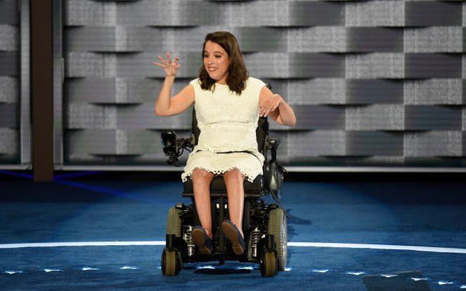 Woman presenter at Democratic Convention