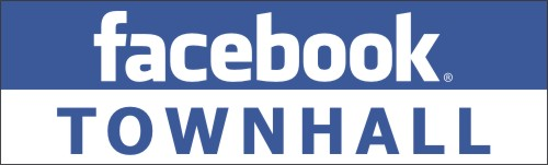Facebook Town Hall Logo